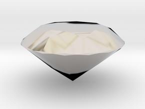 Solid Diamond in Rhodium Plated Brass