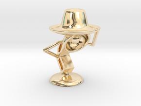 "Lala , ""Am i looking good in hat?"" - Desktoys in 14K Yellow Gold"