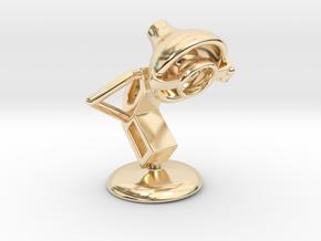 Lala - Single Eye Glass - DeskToys in 14k Gold Plated Brass