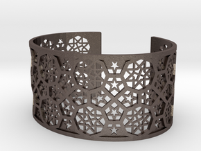 Bracelet Fatehpur Sikri India - Silver L (187mm) in Polished Bronzed Silver Steel