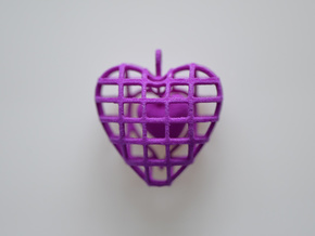 Touch My Heart Pendant in Purple Processed Versatile Plastic