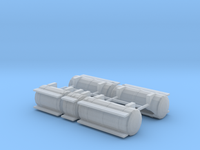 1/64th Australian Road Train Fuel Tank set in Smooth Fine Detail Plastic