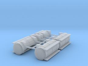 1/50th Australian Road Train Fuel Tank set in Smooth Fine Detail Plastic