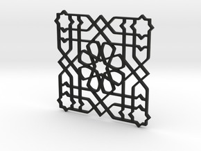 Moroccan Pattern in Black Natural Versatile Plastic