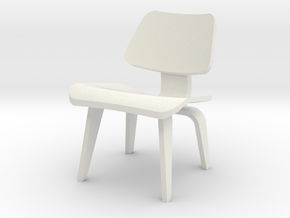 1:24 Eames Molded Plywood Chair in White Natural Versatile Plastic