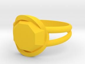 Size 7 Diamond Ring in Yellow Processed Versatile Plastic
