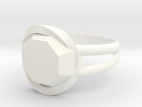Size 8 Diamond Ring in White Processed Versatile Plastic