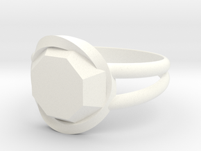 Size 10 Diamond Ring in White Processed Versatile Plastic