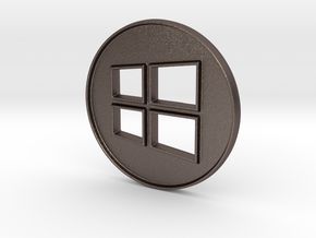 Giant Windows Coin (6 inches)  in Stainless Steel