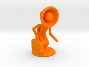 "Lala as ""Executive Manager"" - DeskToys in Orange Processed Versatile Plastic"