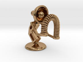 "Lala - Playing with ""Spring coil toy"" - DeskToys in Polished Brass"