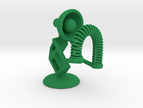 "Lala - Playing with ""Spring coil toy"" - DeskToys in Green Strong & Flexible Polished"