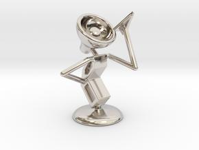 "Lala - ""Playing with paper aeroplane"" - DeskToys in Platinum"