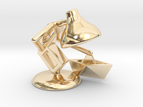 """JuJu - """"Playing with paper boat"""" - DeskToys in 14K Yellow Gold"""