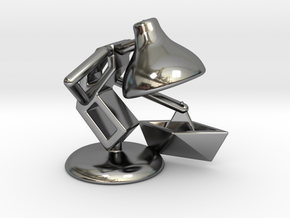 "JuJu - ""Playing with paper boat"" - DeskToys in Fine Detail Polished Silver"