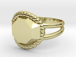 Size 7 Diamond Ring A in 18k Gold Plated Brass