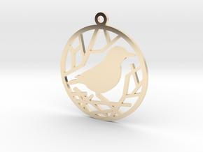 Christmas tree ornament - Bird in 14K Yellow Gold