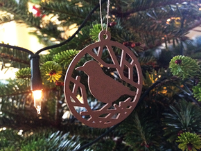 Christmas tree ornament - Bird in Natural Bronze