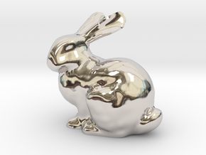 Bunny in Rhodium Plated Brass