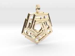 FLORAL SUPERGATE in 14K Yellow Gold