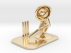 "Lala ""Playing Cricket"" - DeskToys in 14k Gold Plated Brass"