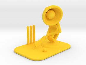 "Lala ""Playing Cricket"" - DeskToys in Yellow Strong & Flexible Polished"