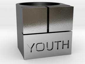 YOUTH Brick Ring - Sz. 8 in Polished Silver