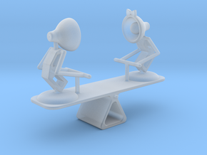 "Lala & Lele ""Playing Seesaw"" - DeskToys in Smooth Fine Detail Plastic"