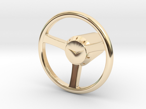 Shooter Rod Knob - v2 Cadillac Steering Wheel in 14k Gold Plated Brass
