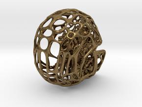 Human skull filagree  pendant or earring in Natural Bronze