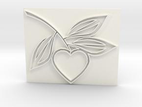 Heart1a in White Processed Versatile Plastic
