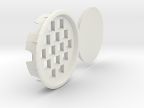 14 Keystone Jacks In 108 Mm Desk Grommet - Recesse in White Natural Versatile Plastic