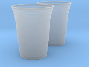 Mini Red Solo Cups in Smooth Fine Detail Plastic