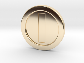Mario Coin in 14k Gold Plated Brass