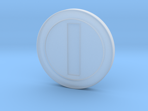 Mario Coin in Smooth Fine Detail Plastic