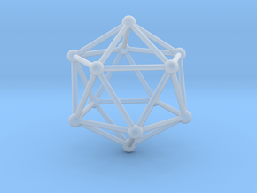 Solid Icosahedron  in Smooth Fine Detail Plastic