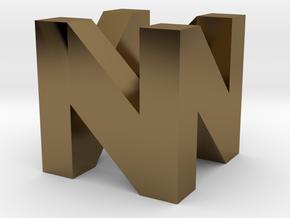 N64 Logo in Polished Bronze