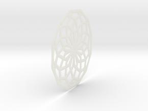Spiro Clock Rdr 2  16010  in White Natural Versatile Plastic