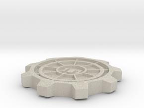 Vault Door Pint Coaster in Natural Sandstone