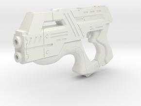Mass Effect 1:6 M-6 Carnifex Heavy Pistol in White Natural Versatile Plastic