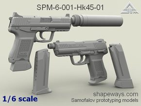 1/6 SPM-6-001-Hk45-01 H&K 45C 2 variants in Frosted Extreme Detail
