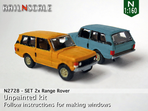 SET 2x Range Rover (N 1:160) in Smooth Fine Detail Plastic