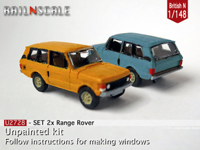 SET 2x Range Rover (British N 1:148) in Smooth Fine Detail Plastic