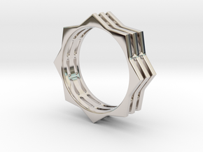 You're A Star Ring in Rhodium Plated Brass