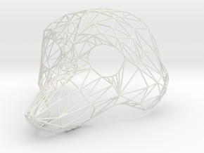 Fursuithead version 21 - reduced mesh in White Natural Versatile Plastic