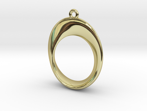 Mobius Pendant in 18k Gold Plated Brass