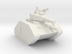 [5] Main Battle Tank (w/ Commander) in White Natural Versatile Plastic