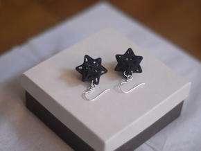 Soft Star Earrings in Blue Processed Versatile Plastic
