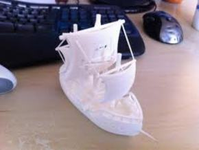 The Piratebay Pirate Ship in White Natural Versatile Plastic
