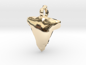 Arrow Head Low Poly in 14K Yellow Gold